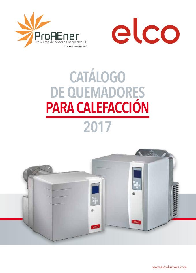 Catálogo ELCO quemadores para calefacción
